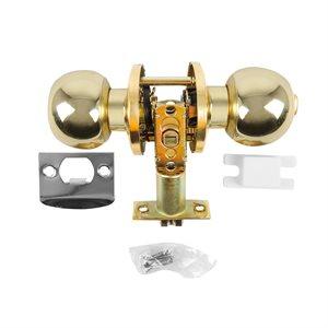 Door Lock Knob Passage Polished Brass