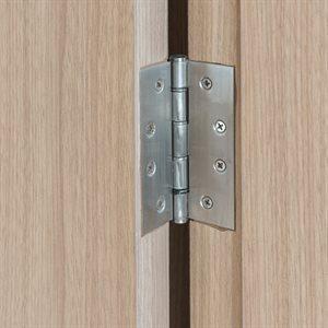 3PC Full Mortise Ball Bearing Butt Hinge 4in x 4½in Square Corner Brushed Nickel