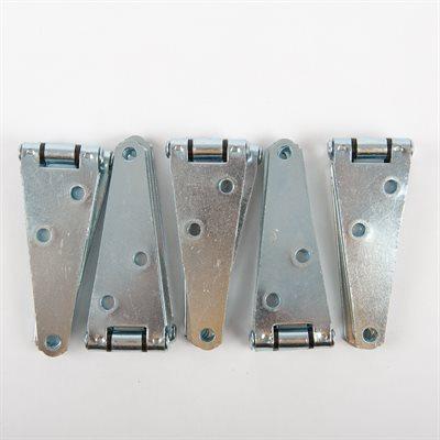 10PC Heavy Duty Door Hinge Straps 4in Zinc