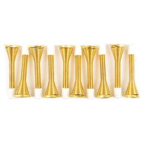 10PC Spring Door Stops 3in Brass Plated