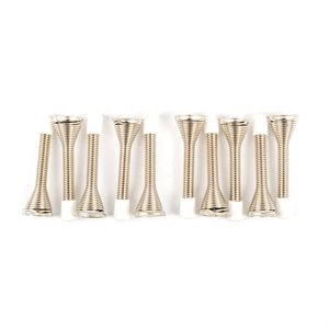 10PC Spring Door Stops 3in Silver