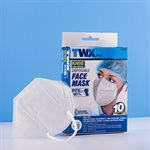 10PC Disposable Face Mask KN95 White