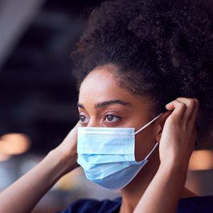 50PC Disposable Face Mask Light Blue
