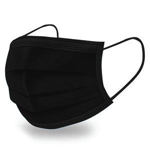 50PC Disposable Face Mask Black