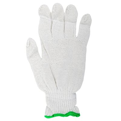 1dz. Knitted Poly / Cotton Gloves White (L)