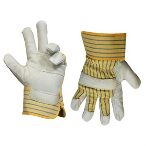 1dz. Cowhide Leather Insulated Gloves Reinforce Palm (OSFA)