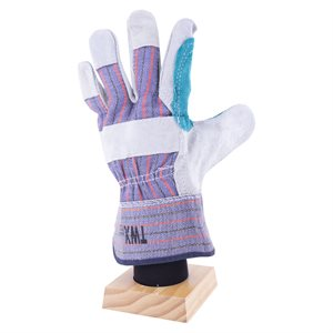 1dz. Cow Split Leather Gloves Reinforce Palm Rubberized Cuff (OSFA)