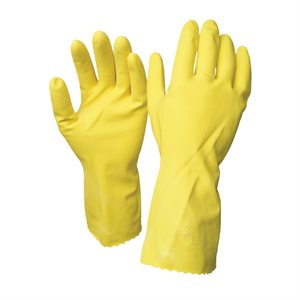 1dz. Disposable Rubber Gloves Yellow (M)