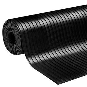 Rubber Runner Ribbed 36in x 50ft 3mm Black