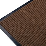 Ribbed Mat Twin 24in x 36in Brown