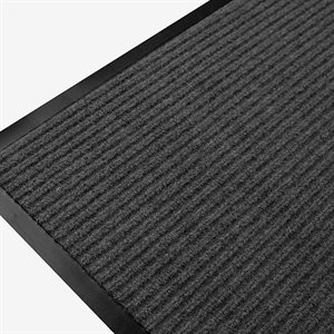 Ribbed Mat Twin 24in x 36in Charcoal