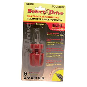 Screwdriver Stubby 6in1 Carded