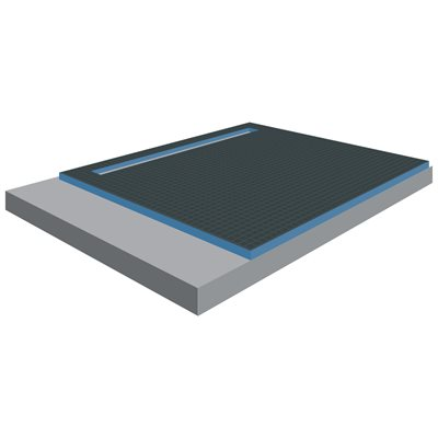 XPS Foam Perimeter Linear Drain Shower Tray 6ft x 1½in x 5ft