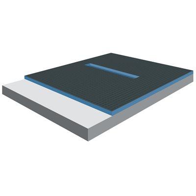 XPS Foam Center Linear Drain Shower Tray 5ft x 1½in x 5ft