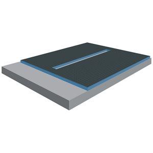XPS Foam Center Linear Drain Shower Tray 6ft x 1½in x 5ft