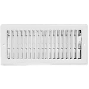 Steel Ceiling Register 3in x 10in White