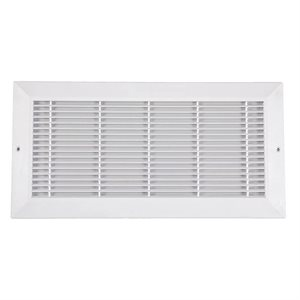 Plastic Sidewall Grill 8in x 14in White