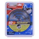 Saw Blade Fine Cut 7¼in x 40T Pro Carded - Display