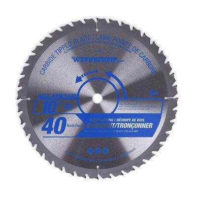 Saw Blade ATB Cross Cut 10in (255mm) 40T 5100RPM