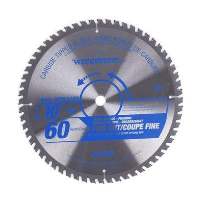 Carbide Tipped Saw Blade ATB Fine Cut 10in (255mm) 60T 5100RPM
