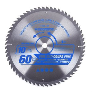 2PC Carbide Tipped Saw Blades ATB 10in (255mm) 7600RPM Crosscut 32T / Fine Cut 60T