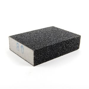 Sanding Sponge 4inx3inx1in (80 Grain Size) Silicon Carbide