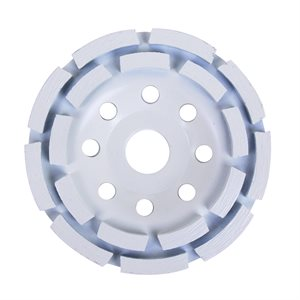 Segmented 2 Row Diamond Cup Wheel 4½in