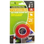 Self-Fusing Silicone Tape 2.5cm x 3m Red