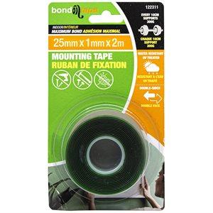 Maximum Bond Mounting Tape 25mm x 1mm x 2m Indoor