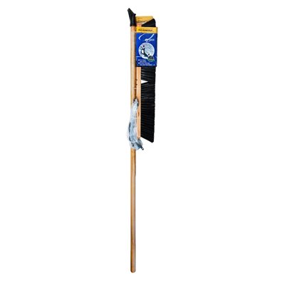 24in Push Broom-Concrete hard W / Brace & Handle