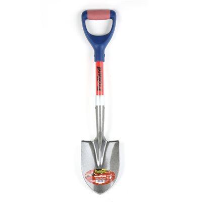 6in x28in Round Shovel Fiberglass Poly D-Grip