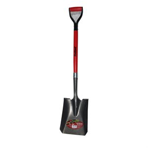 Shovel Sq M 42in Ash Wood Metal D-Grip