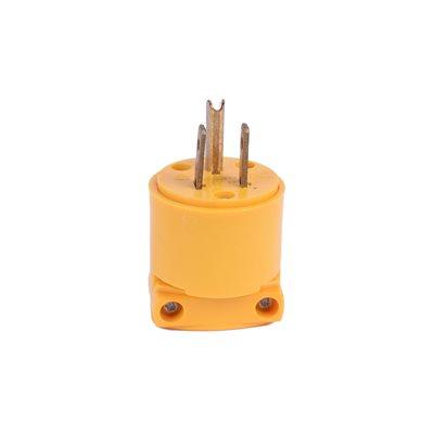 Vinyl Plug 15A-125V Male