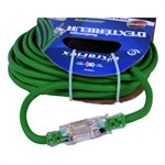 Extension Cord Outdoor SJEOW 12 / 3 Lighted Single Tap Green 30ft