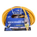 Extension Cord Outdoor SJTW 14 / 3 Single Tap Yellow 10m / 32.8ft