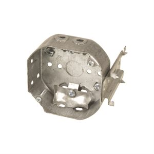 (54151LB) 4in Octagon Box w / Clamps & J Bracket