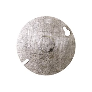 (54C6) 4in Round Cover w / KO