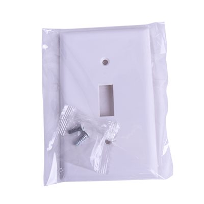 1 Gang Toggle switch plate White