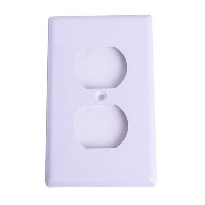 1 Gang Duplex recep. plate White