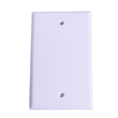 1 Gang blank wallplate White