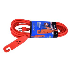 Extension Cord 5m SJTW 16 / 3 3-Outlet Orange In / Outdoor