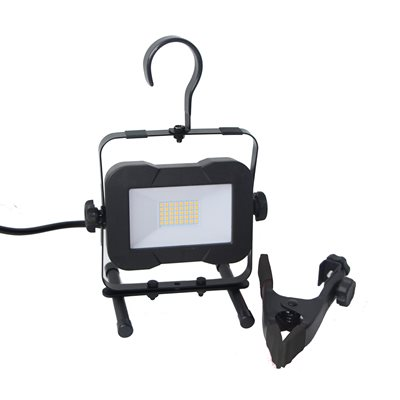 SMD LED Worklight With H-Stand, Clamp Holder & Hook 16W 2000lm 4000k