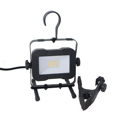 Lampe De Travail DEL SMD Avec Support-H, Pince et crochet 16W 2000lm