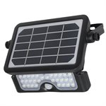 Outdoor Multi-Functional LED Solar Powered Security Floodlight With PIR Sensor - Black