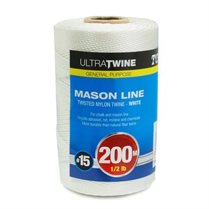 Braided Nylon Twine White 200m ½lb