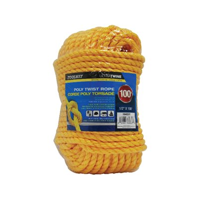 Poly Twist Rope ½in x 100ft