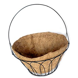 18in Basket With Handle & Coco Liner