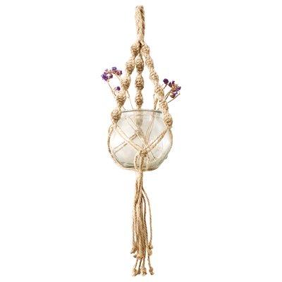 Support De Plante En Corde De Jute Style 18103 Naturel 80cm