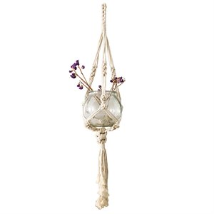 Cotton Rope Plant Hanger Style 1808 Natural 41in new