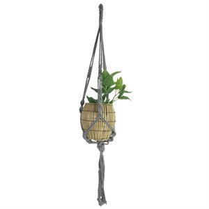 Cotton Rope Plant Hanger Style 1808 Gray 41in new